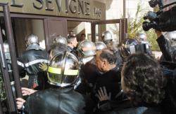 [Manifestation des pompiers à Lyon]