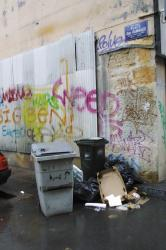 [Place Gabriel Rambaud : ordures ménagères et graffitis]