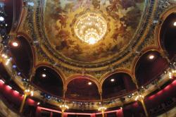 [Le Théâtre des Célestins des Lyon : le plafond de Joanny Domer]