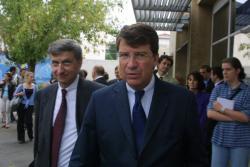 [Visite du ministre Xavier Darcos au collège Théodore-Monod à Bron]