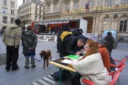 Manifestation des associations de musique de Lyon contre la politique culturelle de la ville