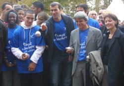 [Zinédine Zidane et l'association européenne contre les leucodystrophies (ELA)]