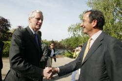 [Michel Barnier visite Euronews à Ecully]