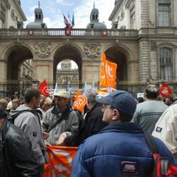 [Manifestation du personnel municipal de Lyon]