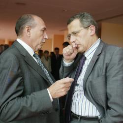 [Jean-Cyril Spinetta, président d'Air France, rencontre les décideurs lyonnais]