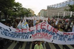 [Manifestation de l'Education nationale]