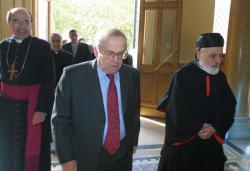 [Visite du patriarche le cardinal Sfeir]