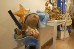 """[Musée d'art religieux de Fourvière : exposition """"Visages de Marie""""]"""