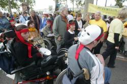 [Manifestation des handicapés à Lyon]