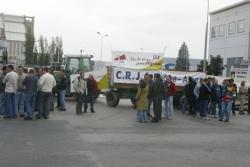 [Manifestation des agriculteurs au port Edouard-Herriot]