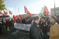 [Manifestation des ouvriers de la métallurgie à Vénissieux]
