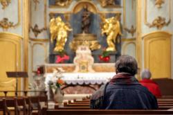[Prières des Lyonnais pour le Pape Jean-Paul II à Fourvière]