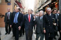 [Le président de la République portugaise Jorge Sampaio à Lyon]