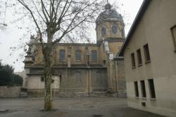 [Eglise Saint-Bruno-les-Chartreux en cours de rénovation]