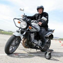 [Prototype de la Motostab au Centre d'éducation et de sécurité routière de Bron (CESR)]