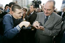 [Le Président Jacques Chirac à Lyon : visite de l'ANPE de La Guillotière]
