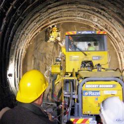 [Liaison ferroviaire Lyon-Turin : visite de chantier]