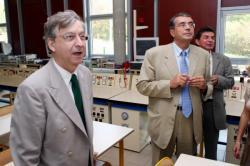 [Visite de Jean-Jack Queyranne et Alain Morvan au lycée Albert-Camus de Rillieux-la-Pape]