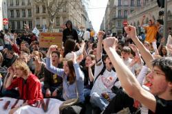 [Manifestation lycéenne contre la Loi Fillon]