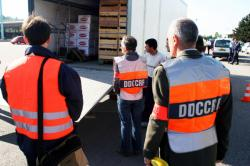 [Contrôle qualité des marchandises par la répression des fraudes au péage de Reventin-Vaugris (Isère)]