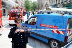 [Intervention des pompiers suite à une fuite de gaz rue de la République]