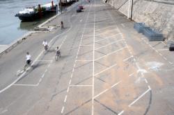 [Le bas-ports de la rive gauche du Rhône avant aménagement]