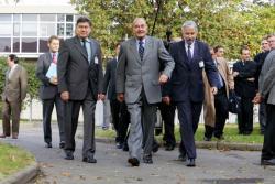 [Le Président Jacques Chirac à Solaize : visite de l'Institut français du pétrole (IFP)]