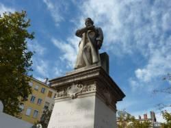 Statue de Jacquard, quartier de la Croix-Rousse à Lyon