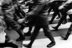 Défilé militaire à Lyon, place des Terreaux, à l'occasion des commémorations du 11 Novembre 1918