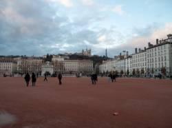 La Place Bellecour et la basilique Notre-Dame de Fourvière