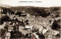 Largentière (Ardèche) : Vue générale