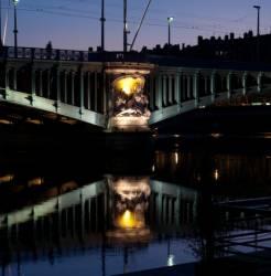 Le Pont Lafayette vu du quai du Général-Sarrail