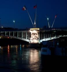 Le Pont Lafayette vu du quai Victor-Augagneur