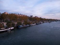 Le Quai du Général Sarrail vu du pont Morand