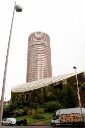 L'auditorium et la tour du Crédit Lyonnais dans le quartier de la Part-Dieu
