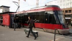 Le Rhône Express à la gare de la Part-Dieu