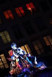Fête des Lumières 2010 : fontaine de Bartholdi, place des Terreaux