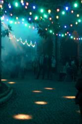 Fête des Lumières 2010 : cour intérieure de l'Hôtel-Dieu