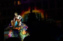 Fête des Lumières 2010 : place des Terreaux, fontaine de Bartholdi