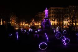 Fête des Lumières 2010 : fontaine de la place du Maréchal Lyautey