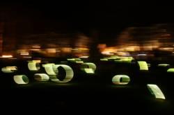 Fête des Lumières 2010 : Fontaine de la place Maréchal Lyautey