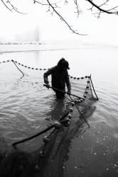 Pêche dans la Dombes 22/36 : Le pêcheur récupère le poisson...