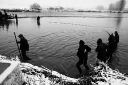 Pêche dans la Dombes 09/36 : Arrivés vers la digue (artificielle)...