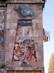 Espace Diego Rivera : façade préhispanique, la civilisation huasteca