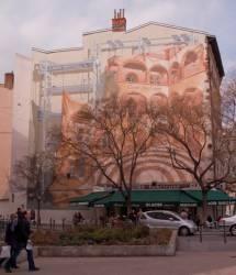 """Place Fousseret : mur peint """"Cour des Loges"""""""