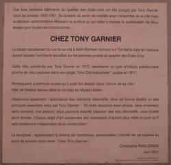 """Quartier des États-Unis : mur peint """"Chez Tony Garnier"""""""
