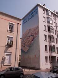 Quartier des Etats-Unis : mur peint