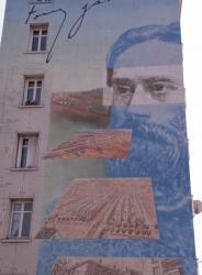 "Quartier des Etats-Unis : mur peint ""Tony Garnier"""