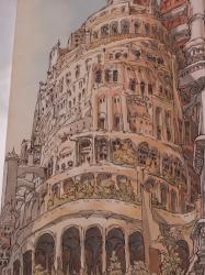 """Place Mendès-France : fresque """"La Tour de Babel"""" par Nicolas de Crécy"""