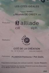 """Place Mendès-France : fresque """"La Tour de Babel"""" de Nicolas de Crécy"""